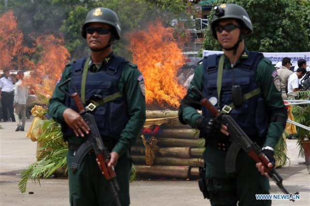 Cambodia sees rise in drug arrests in 1st four months