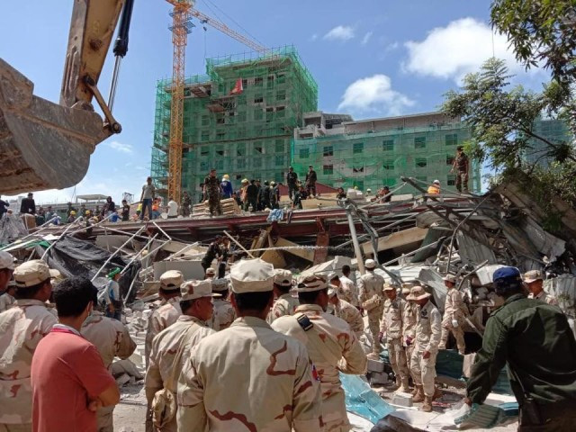 Death toll in Cambodia building collapse rises to 7