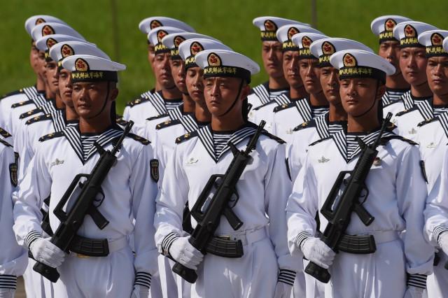 China spotlights military drill amid Hong Kong protests