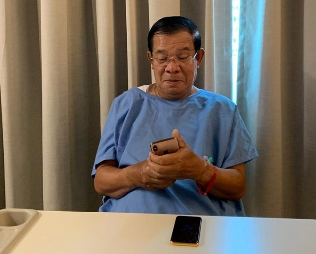 Hun Sen treated for sprained shoulder in Singapore