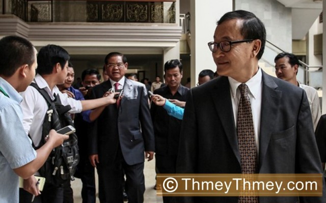 Sar Kheng says lawsuit against Sam Rainsy is his first