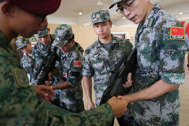China, Singapore conduct joint exercise on urban counter-terrorism