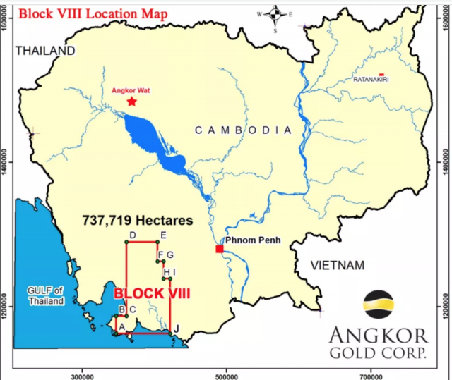 A Canadian company gets Cambodia's authorization for oil and gas exploration