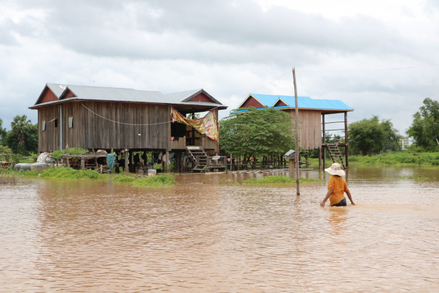 Flood warning remains for Stung Treng but lifted for Kratie, Kg Cham