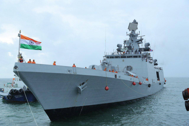 Indian naval ships make port call in Cambodia