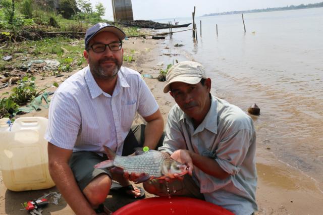 Rearing of endangered fish Larvae in Cambodia