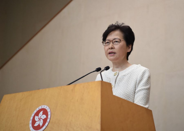 Carrie Lam hits back at foreign interference in HK affairs, calls for end of infrastructure vandalism