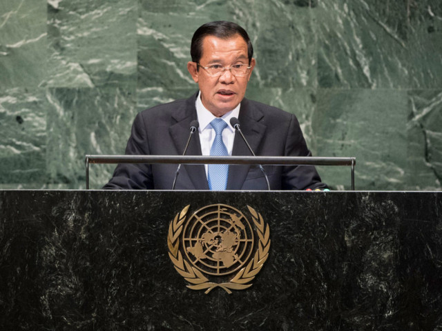 Hun Sen says some countries threatening fragile peace