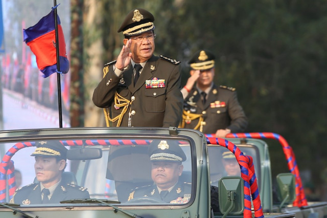 Hun Sen Asks to Take Away the Oknha Title of Military Officers