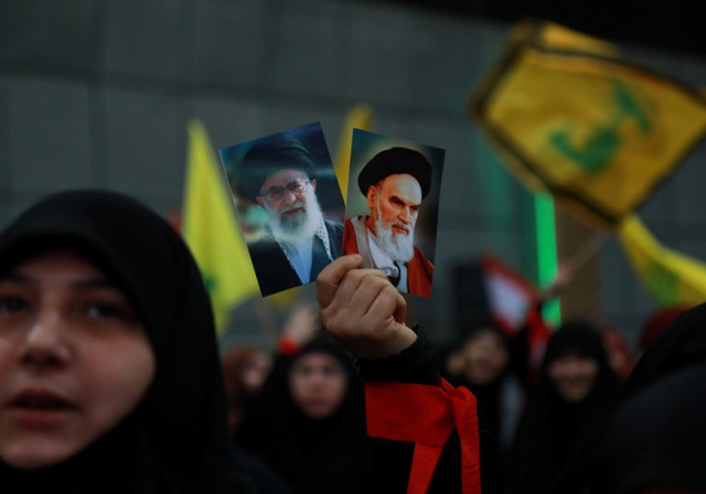 Iran releases photo of Khamenei with Hezbollah chief
