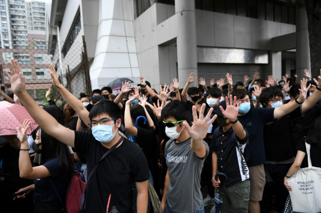 Hong Kong cabinet member floats internet censorship to contain unrest