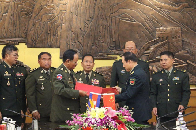 Cambodia, China sign military cooperation agreement