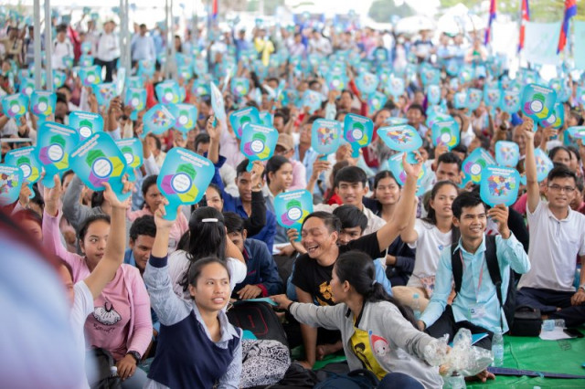 People Celebrate the Anniversary of the Paris Peace Agreement