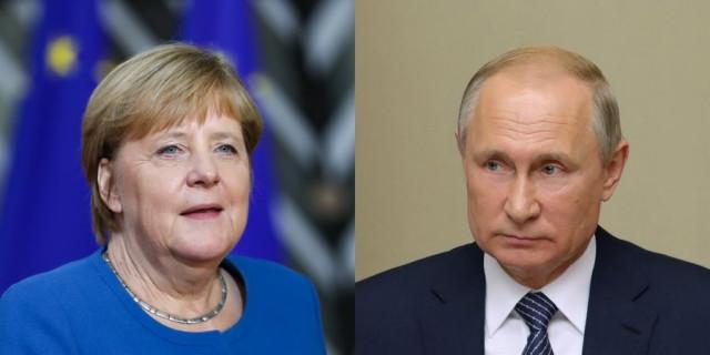 Putin, Merkel discuss Syria, Ukraine gas transit on phone