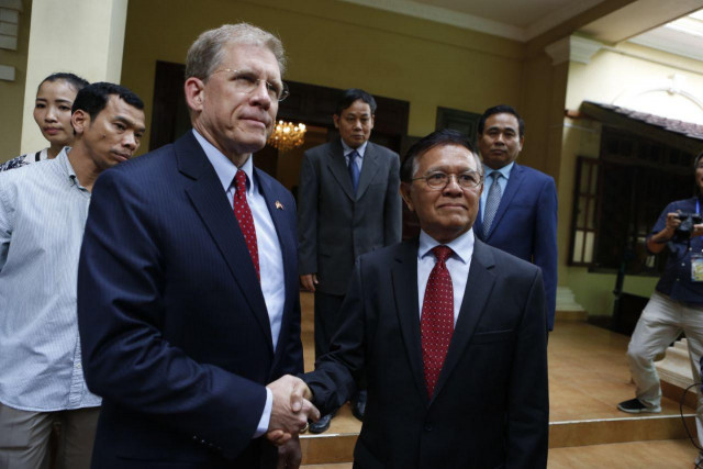 US ambassador urges greater liberty for Kem Sokha