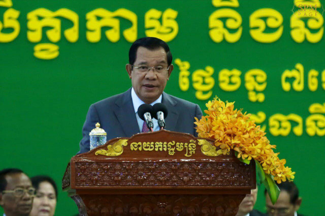 Hun Sen says Cambodia won't be pushed around