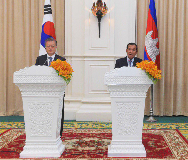 Cambodia in free-trade talks with South Korea and China