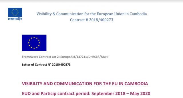 The EU is making a Call for services for a consultant/company