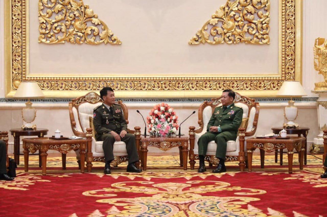 Cambodia's Military Chief Makes a Historic Visit to Myanmar