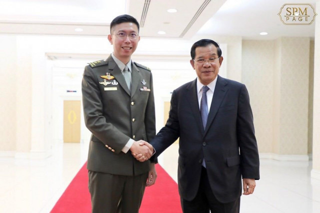 """Hun Sen says Cambodia-Singapore Military Cooperation """"Important"""" amid Global Arms Race"""