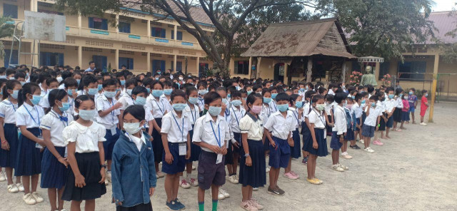 Some Schools Take Action in View of the Wuhan Virus in Cambodia