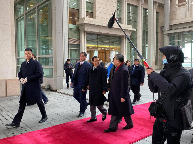 Prime Minister Hun Sen Arrives in China in the Midst of the Wuhan Coronavirus Outbreak