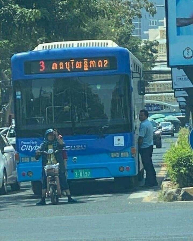 A Bus Driver Is Fired for Relieving Himself Next to his Vehicle in Phnom Penh