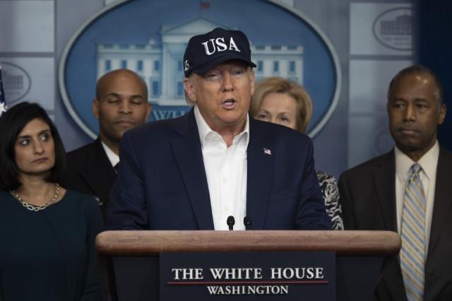 Trump tests negative for virus as US expands Europe traveler ban