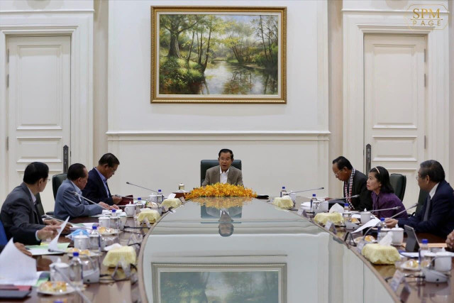 Hun Sen Chairs Meeting to Review Draft of Emergency Law