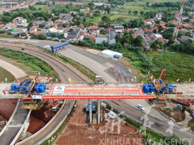 Major project in bridge building completed for Indonesia's Jakarta-Bandung high speed railway