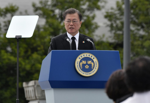 South Korea's Moon honours Gwangju Uprising victims
