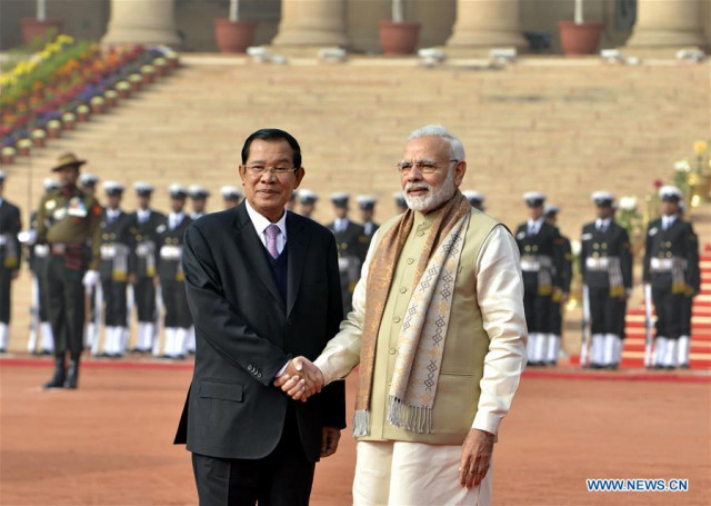 Cambodia and India's Prime Ministers Discuss Bilateral and Regional Issues