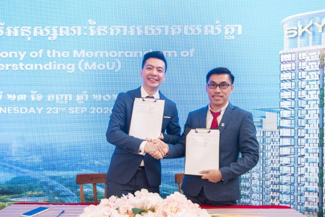 Urban Hub Cambodia Signed Official Partnership Agreement with AP Real Estate