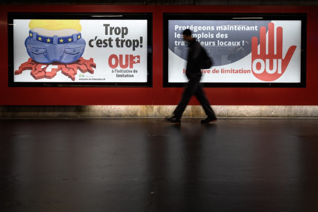 Free movement at risk in heart of Europe as Swiss vote
