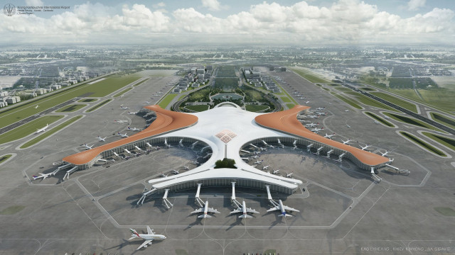 University Students Combine Ultra 21st-Century and Angkrorian Elements in an Airport Design