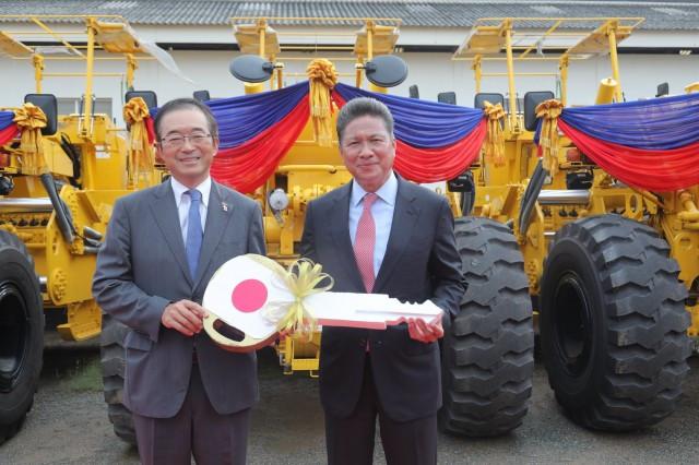 Japan Donates Construction Vehicles worth $4.5 Million to Cambodia