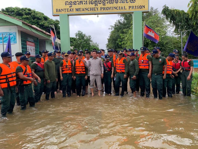 Prisoners in Banteay Meanchey Evacuated due to Flooding