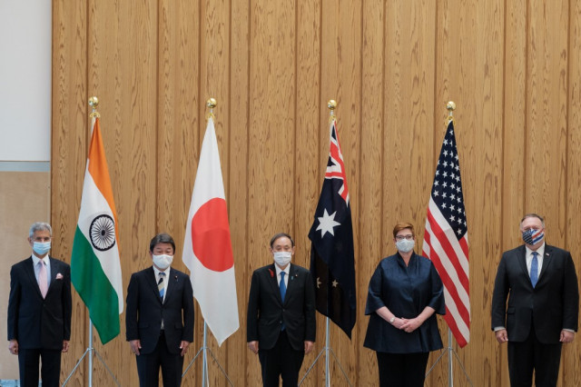Eyeing China, Australia joins 'quad' drill with US, Japan, India