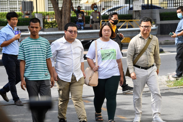Thai protest leaders charged with royal defamation