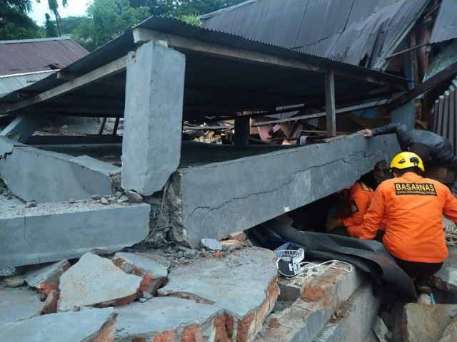 At least three dead as buildings collapse in Indonesia quake