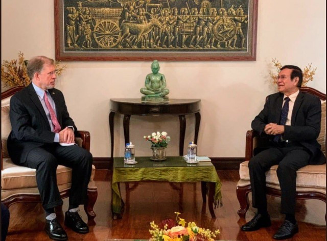U.S. Ambassador W. Patrick Murphy Meets with Sokha to Discuss Delays in his Trial
