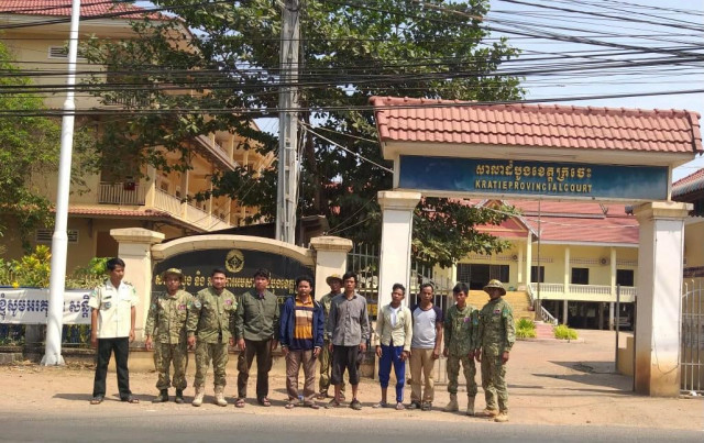 Five Cambodian Environmentalists Arrested in Kratie Province Are Sent to Court