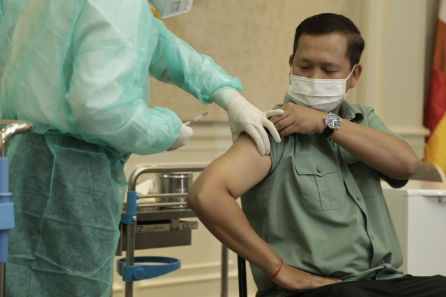 Cambodia's Vaccination Drive Begins with Government Officials
