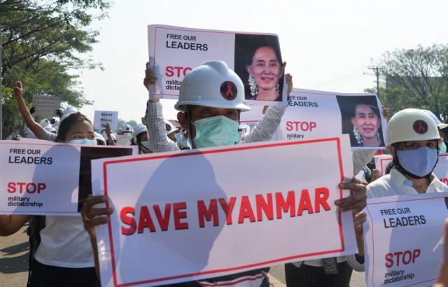 Myanmar gunshot victim fights for life amid online hunt for shooter