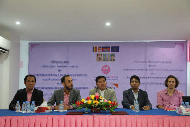 Chamroeun MFI Inks MoU with World Vision Cambodia to Provide Financial Access in Aquaculture Sector