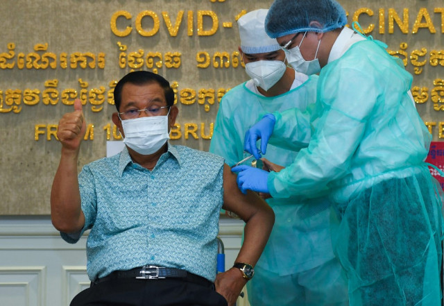 """Hun Sen Says """"Vaccine Security"""" Issue Soon to Dominate International Stages"""