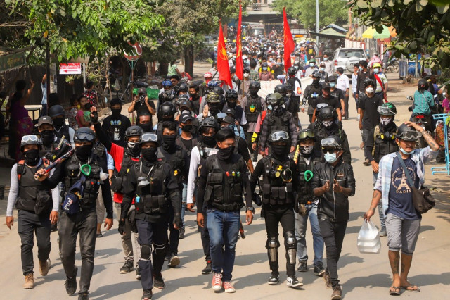 Myanmar's rebel groups voice support for protesters as junta continues crackdowns