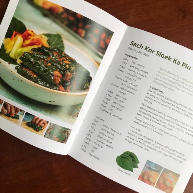 Betel Leaf Beef Rolls/ Sach Kor Sloek Ka Plu