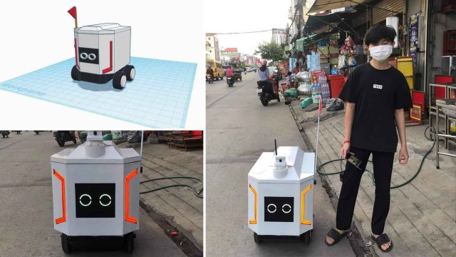 A High School Student in Phnom Penh Builds a Remotely-Controlled Robot