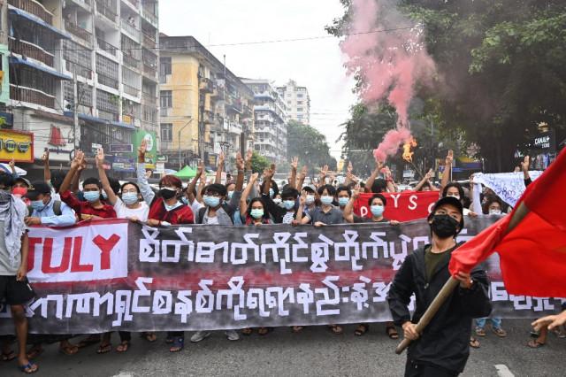 Myanmar protesters mark 1962 rallies against first junta